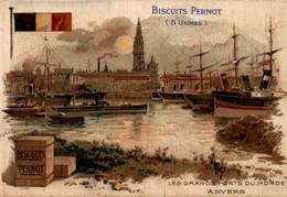Biscuits Pernot Les Grands Ports Du Monde ANVERS - Pernot