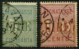 F 31 - REGNO D'ITALIA - UMBERTO I - SEGNATASSE 1884 - 2 VAL - SASS. 15-16 - 1878-00 Humbert I.
