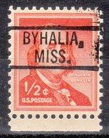 USA Precancel Vorausentwertung Preo, Locals Mississippi, Byhalia 802 - Vereinigte Staaten