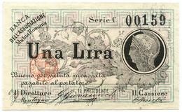 1 LIRA BIGLIETTO FIDUCIARIO BANCA DELL'ASSOCIAZIONE MUTUA ROMANA SPL+ - [ 1] …-1946 : Regno