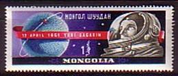 MONGOLIA / MONGOLIE - 1961 - Jour De La Cosmonautiqe - Yuri Gagarin - Espacio