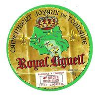 ETIQUETTE De FROMAGE..CAMEMBERT Joyaux De TOURAINE..Royal Ligueil..Fabriqué à UNICOOP à LIGUEIL (Indre Et Loire 37) - Fromage