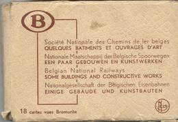 Nationale Maatschappij Der Belgische Spoorwegen Een Paar Gebouwen En Kunstwerken 18 Cartes Vues (3126) - Structures