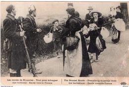 GUERRE 1914 1918 LES ROUTES DE BRUXELLES EXODE VERS LA FRANCE - Guerre 1914-18