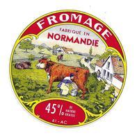 ETIQUETTE De FROMAGE..CAMEMBERT Fabriqué En NORMANDIE ( Orne 61-AC) - Fromage