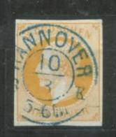 Hannover Michel Nr. 16a Gestempelt ,signiert Engel BPP, 75 Euro Michel Katalogwert. - Hanovre