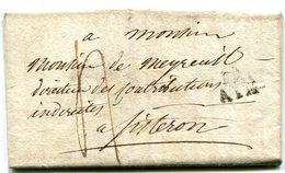 BOUCHES DU RHONE De AIX LAC Du 30/04/1827 Linéaire 17x12 Et Taxe De 4 Pour SISTERON - 1801-1848: Précurseurs XIX