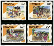 Rwanda 1384/87**  Auto-organisation  MNH - Rwanda