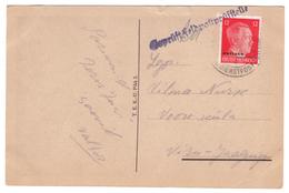 12 Pfg Ostland Stamp,Military Censor On PC,Estonia,Estland - Estonie