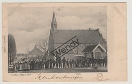 Nieuwdorp - Kerk Met Veel Volk - Autres