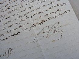 Paulin PARIS (1800-1881) Historien MOYEN AGE - Médiéviste. ACADEMIE Inscriptions Belles Lettres. AUTOGRAPHE - Autographes