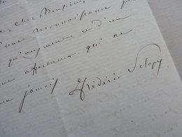 Federigo SCLOPIS De SALERENO (1798-1878) Patriote ITALIEN Sardaigne. ITALIE Italia. AUTOGRAPHE - Autographs