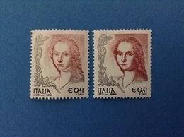 2003 ITALIA FRANCOBOLLI NUOVI STAMPS NEW MNH** DONNA NELL'ARTE DONNE 0,41 Dent. 13 1/4 + Dent. 14 1/4 - 6. 1946-.. Repubblica