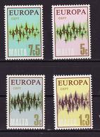 Europa CEPT Malte - Malta 1972 Y&T N°452 à 455 - Michel N°450 à 453 *** - Europa-CEPT