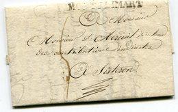 DROME De MONTELIMAR LAC (abimée) Du 16/04/1827 Linéaire 50x11et Taxe De 5 Pour SISTERON - 1801-1848: Précurseurs XIX