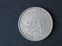 1F Semeuse, Argent, 1913 - France