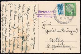 Landpost Birresdorf über Remagen Auf Glückwuschkarte SSt REMAGEN 12.7.1954 - BRD