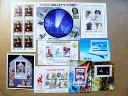 Lot Of 9 M/s DPR Korea Sport Olympic Games Space Halley's Comet Art Dogs Aircraft Fairy Tale Leonardo Da Vinci Rubens - Sellos