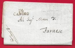 PREFILATELICA NAPOLEONICO - 1813 DIPARTIMENTO 116 TEVERE - Da CANINO A FARNESE - Con Documento - 1. ...-1850 Prephilately