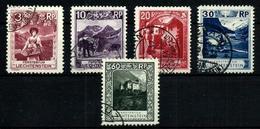 Liechtenstein Lote 5 Sellos Usados. Cat.39,50 - Liechtenstein