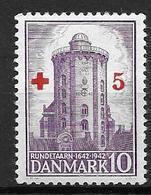 Danemark 1944 N° 293 Neuf** MNH Station Astronomique Et Météo, Surchargé Pour La Croix Rouge - 1913-47 (Christian X)