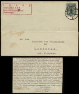 P0041 - Propaganda , DR NSDAP Dienstpost Postkarte HJ , BDM Jungmädel: Gebraucht Bann 408 Sentenhardt Meßkirch - Zozne - Allemagne