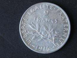 2F Semeuse 1916, Argent - France