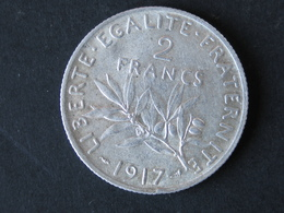 2F Semeuse 1917, Argent - France