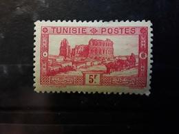 TUNISIE 1931, Amphithéâtre D' El Djem, Yvert No 178, 5 F Rose D 11 , Neuf * MH   TB Cote 30 Euros - Nuevos