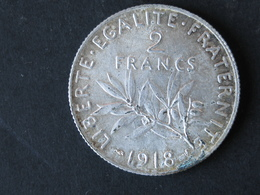 2F Semeuse 1918, Argent - France