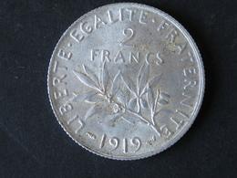 2F Semeuse 1919, Argent - France