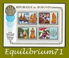 BL121B** (949A/D) 10e Anniversaire De La 2ème République / 10e Verjaardag Van De 2e Republiek - BURUNDI - 1980-89: Neufs