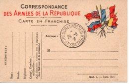 FRANCE / CARTE POSTALE F.M. TRESORS ET POSTE - Franchise Militaire (timbres)