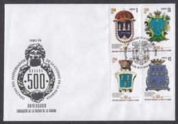 FDC. 500 ANIVERSARIO DE LA CIUDAD DE LA HABANA 2019. CUBA. - FDC