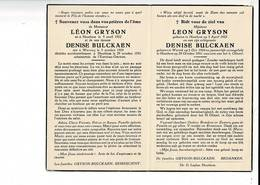DP 8770 - LEON GRYSON - WERVICQ 1924 + HOUTHEM 1951 - Imágenes Religiosas
