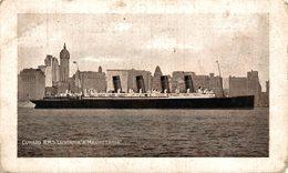 CUNARD RMS  LUSITANIA MAURETANIA - Paquebote