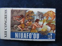 Niuafoou, Tonga, 1996, Prehistoric Art, Animals, Mamals, - Sellos