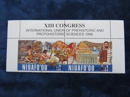 Niuafoou, Tonga, 1996, Prehistoric Art, Animals, Mamals, Egypt, Piramid, Gladiator - Stamps