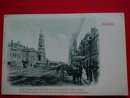 ADELAIDE KING WILLIAM STREET K.WILHELM STRASSE MIT TURMEN DES RATHAUSES UND POSTGEBAUDES - Adelaide