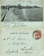 Romania, CONSTANȚA, Panorama (1904) Moonlight Postcard - Romania