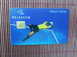Phonecard  Sport  Football 500 BEF KH 30.09.2002 Used Low Issue Rare - Belgien