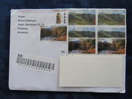 Armenia 1999, 2019 Circulater Registered Letter, Europa CEPT, Landscape, Seal, Definitives - Armenia