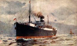 Künstler-AK Passagierschiff T.S.S. Cassandra In Voller Fahrt ANCHOR LINE STAND BRITISH EMPIRE EXHIBITION - Paquebote