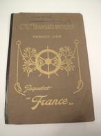 Plan Coupe Longitudinale Paquebot France Compagnie Générale Transatlantique French Line 1917 - Boats