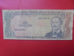 DOMINIQUE 1 PESO 1988 CIRCULER (B.9) - Dominicana