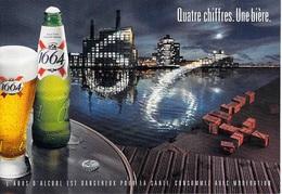 PUB PUBLICITE -  1664  Quatre Chiffres Une Bière  (b)  (alcool) ( Cart Com) *PRIX FIXE - Advertising