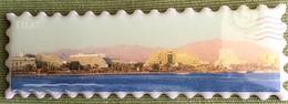 Eilat Israel Shiny Magnet Postage Stamp Shaped Frigde Magnet, Israel - Magnets