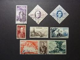 MONACO, Année 1956, YT N° 444 à 452 Oblitérés, Série Complète (cote 16 EUR) - Monaco