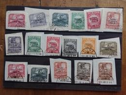 TERRE REDENTE 1918/19 - FIUME - Sovrastampe Piccole, Sottili E Spesse - Timbrati Su Frammento (alto Valore) + Spese Post - Fiume