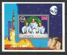 Yemen,Apollo XI-Crew 1969.,block,MNH - Yemen